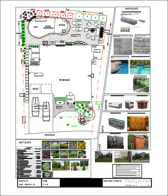 Landscape Design Full Property with Pool