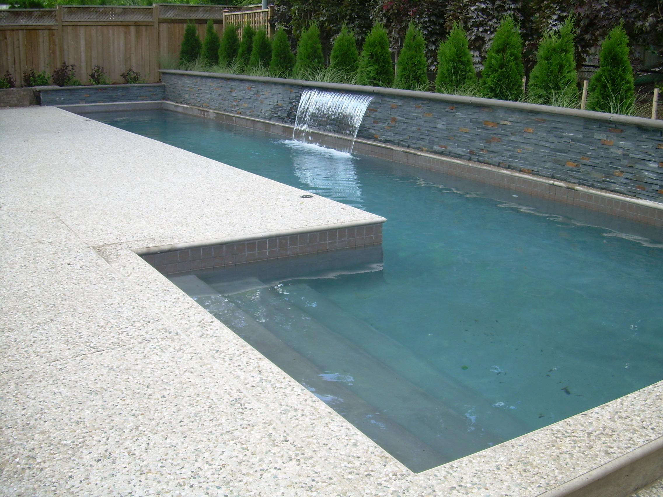 Custom Gunnite Lap Pool In Oakville Dusil Design And Landscape Inc