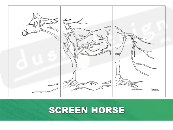 Screen Horse in Trees