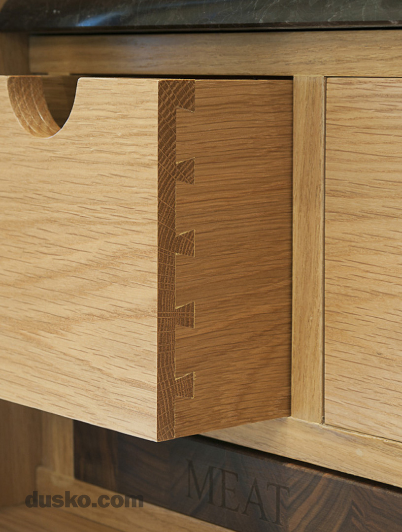 Colonial Style Kitchen in Prestbury, Cheshire Dovetailed Drawer Box