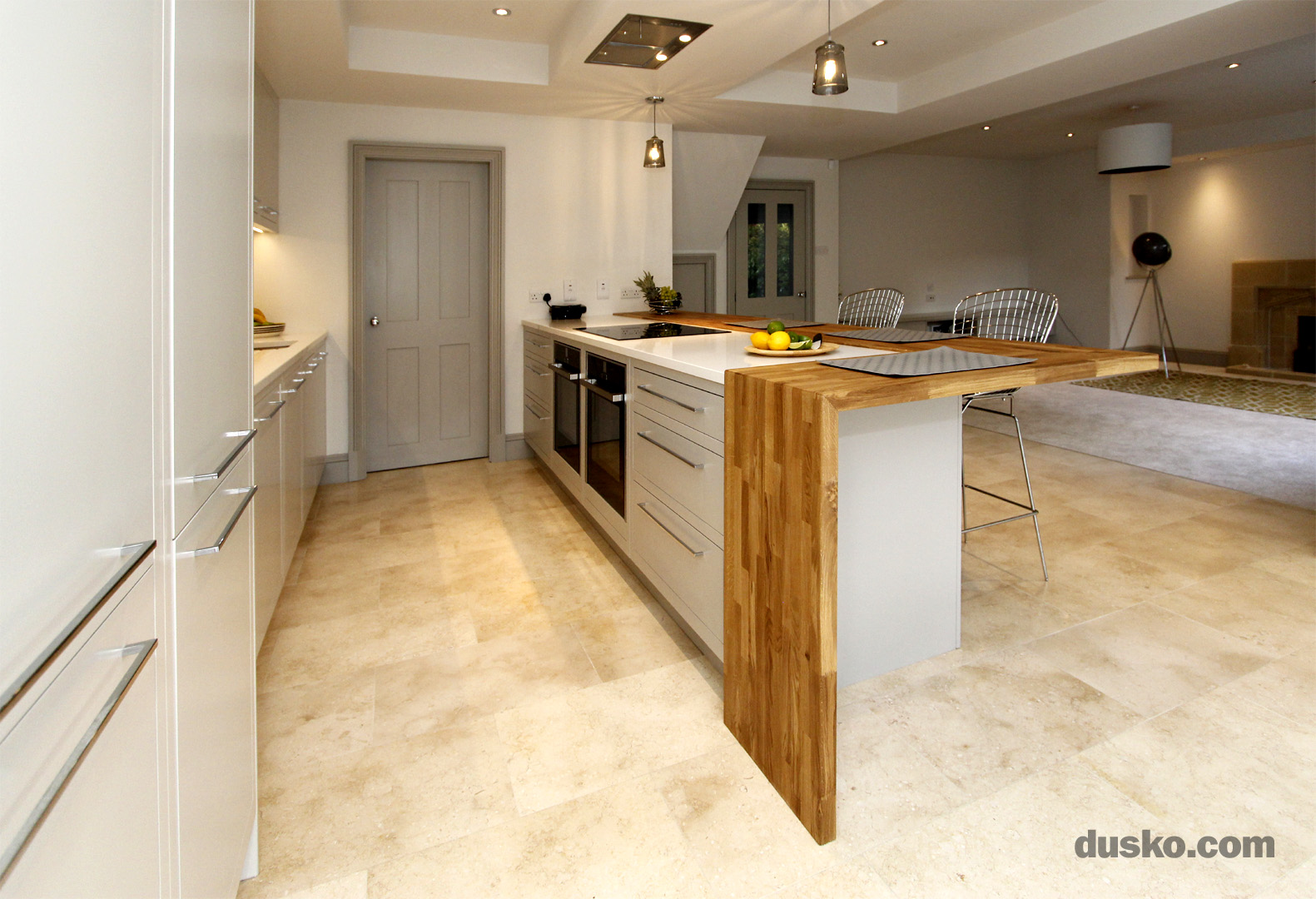Contemporary Open Plan Kitchen and Dining Area in Handforth, Cheshire