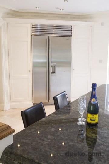 Edwardian Style Kitchen in Wilmslow, Cheshire integrated fridge freezer