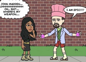 Bitstrips Bri realizes that it will take MORE then 4 sims to contain her bestie's ego...