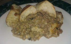 Stuffed French Bread MESSY GOOEY GOODNESS!