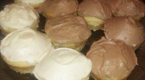 Orange cupcakes Orange Vanilla Cream and Chocolate Orange cream.