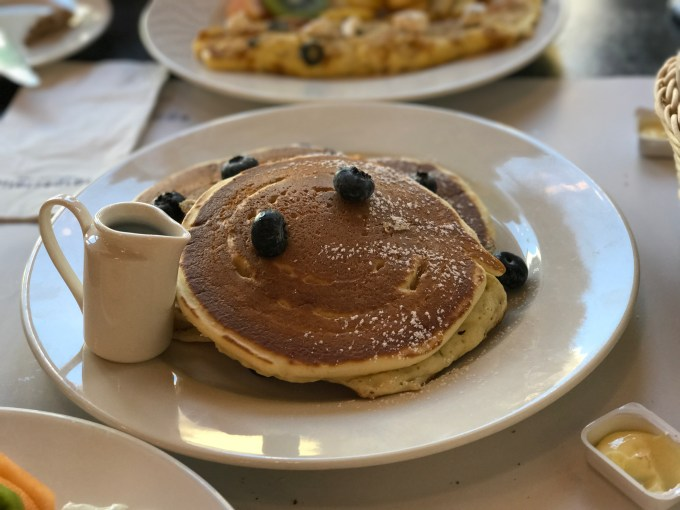 Eggspectation's blueberry pancake was not as delicious as IHOP.