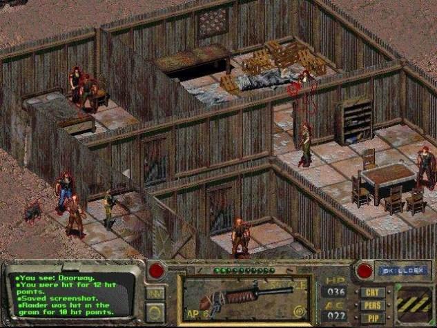 Fallout izometrik görüş açılı, sıra tabanlı bir rol yapma oyunudur.