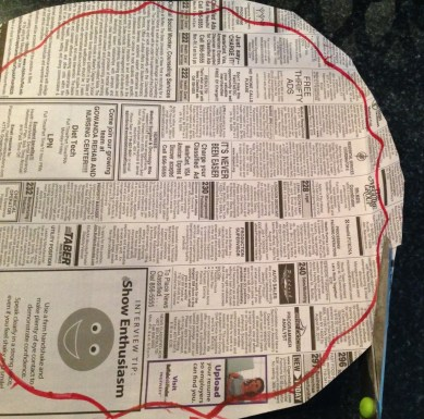 pattern from newspaper