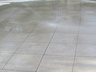 hose down the concrete