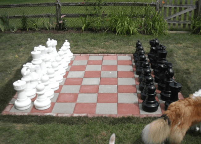 Outdoor chess board