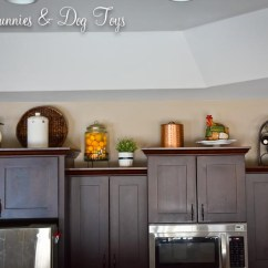 Kitchen Cabinet Decor Tile Backsplash Top Dust Bunnies And Dog Toys Some Time Back I Shared A Little Update On My Mentioned Still Wasn T Crazy About It As Whole So D Live With For While