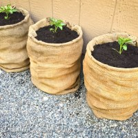 Burlap Pepper Pots