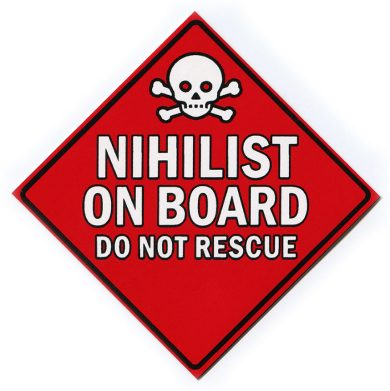 Nihilist On Board Sticker