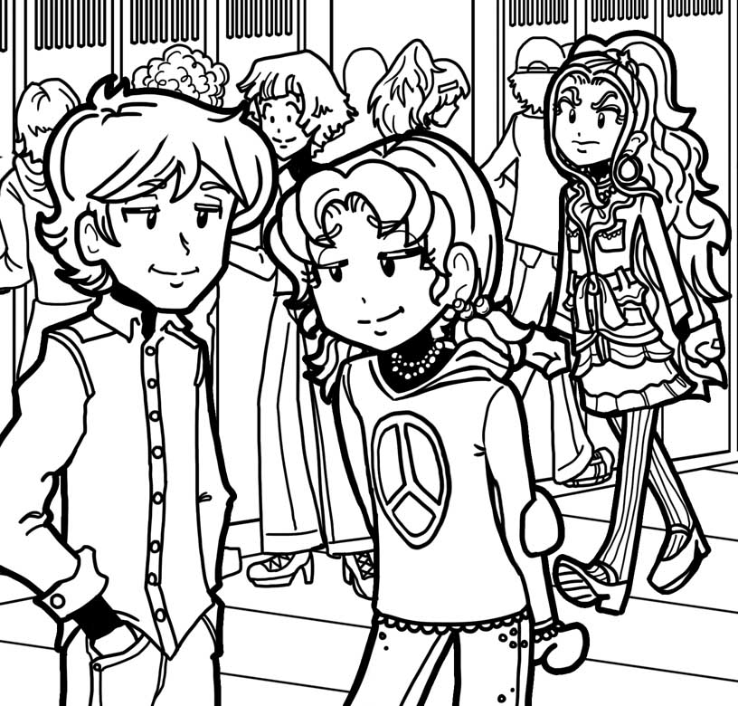 Free Coloring Pages Of Jessica From Dork Diaries