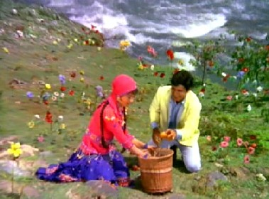 Somna, Amar, and lots of fake flowers