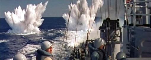 Battle at sea in The Enemy Below
