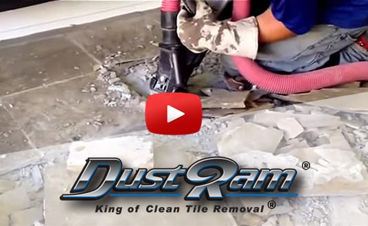 cutting edge dust free tile removal in