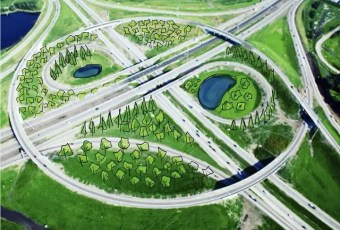 Anthony Henday roundabout food forest