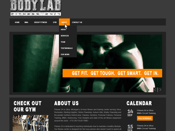 Body Lab of Utica Website Homepage - Website Design