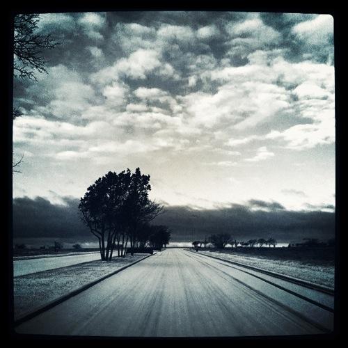 Austin winter storm captured by austin wedding photographer Dustin Meyer