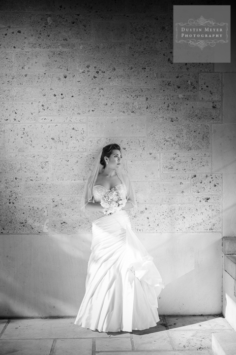 classic stunning black and white bridal portraits austin texas