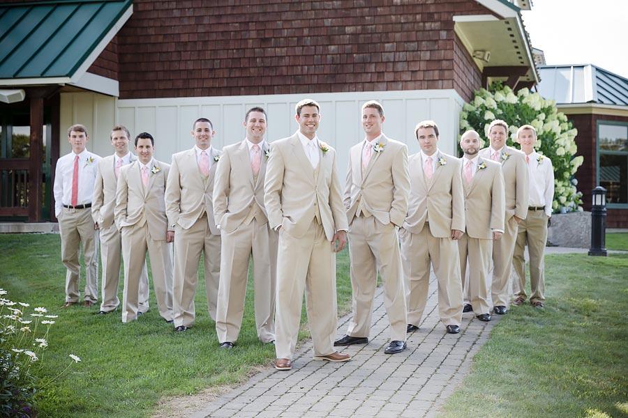 wedding groom and groomsmen suit and tie