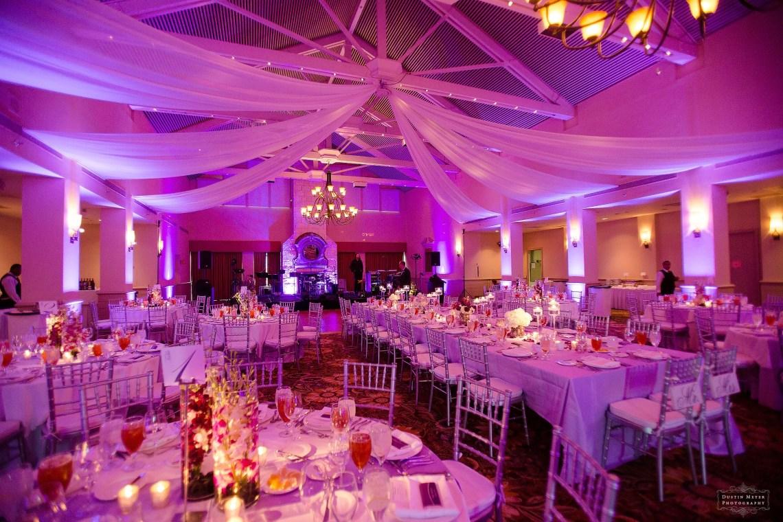 wedding reception lighting pin lighting