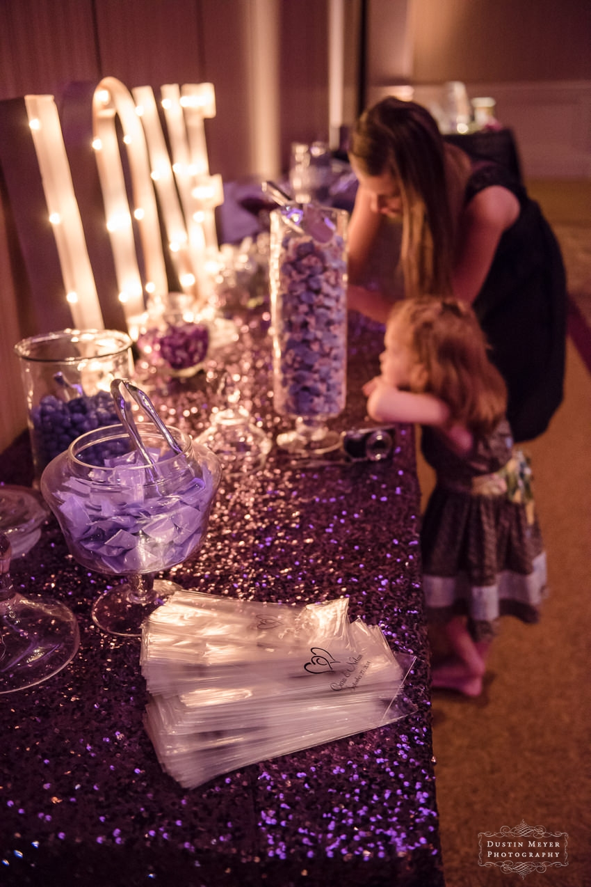 wedding reception candy bar Austin Wedding Photographers