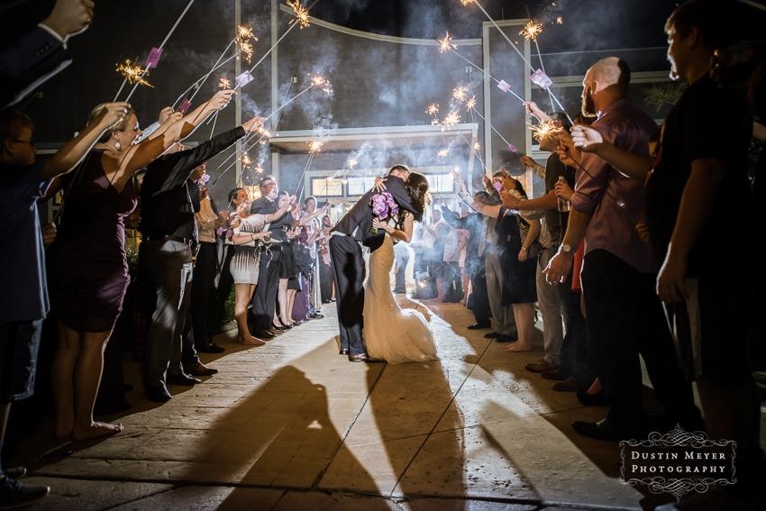 wedding reception grand exit  with sparklers Hyatt Lost Pines Wedding