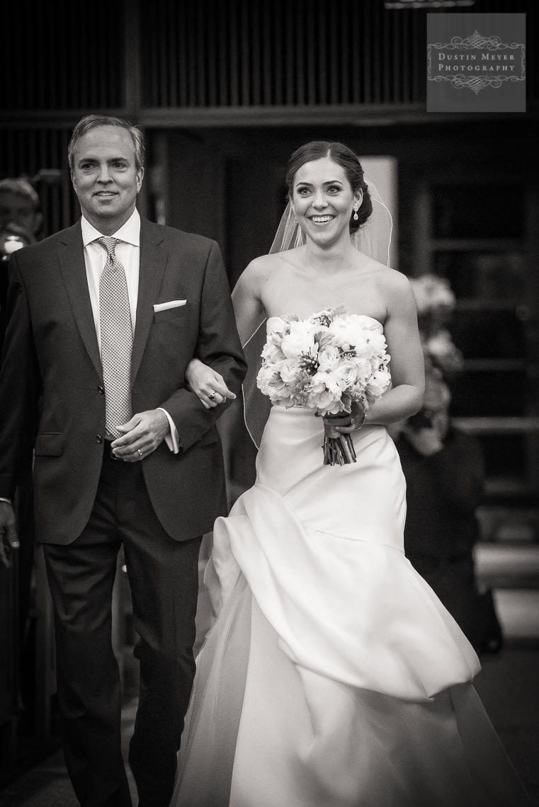 father walking the bride down the aisle