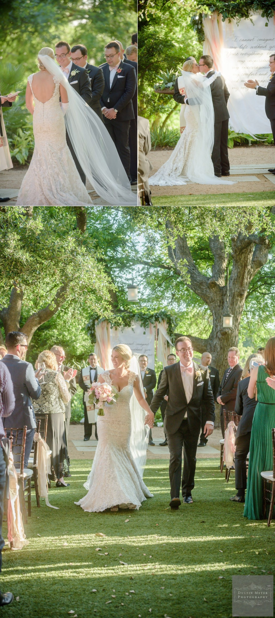 four seasons wedding, bride and groom outdoor wedding ceremony