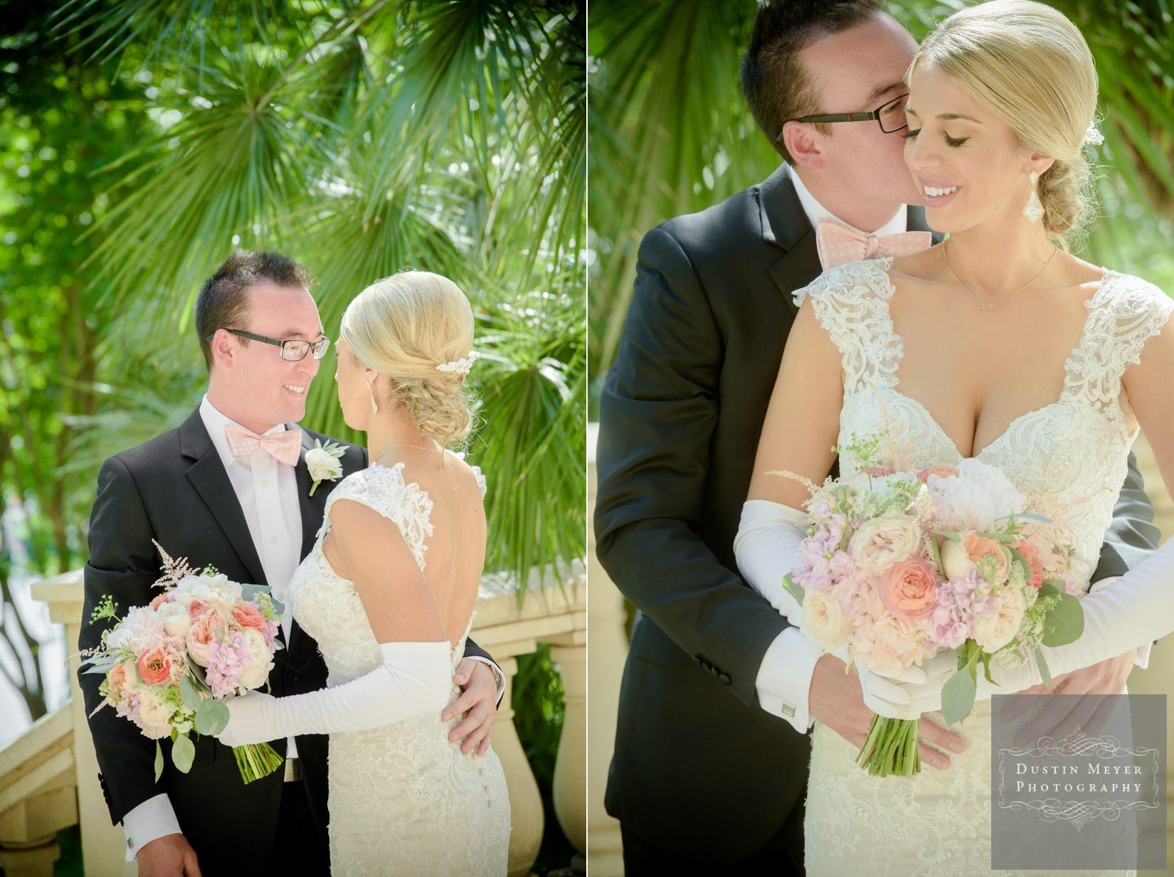 four seasons wedding, first glance bride and groom, wedding bridal gown ideas
