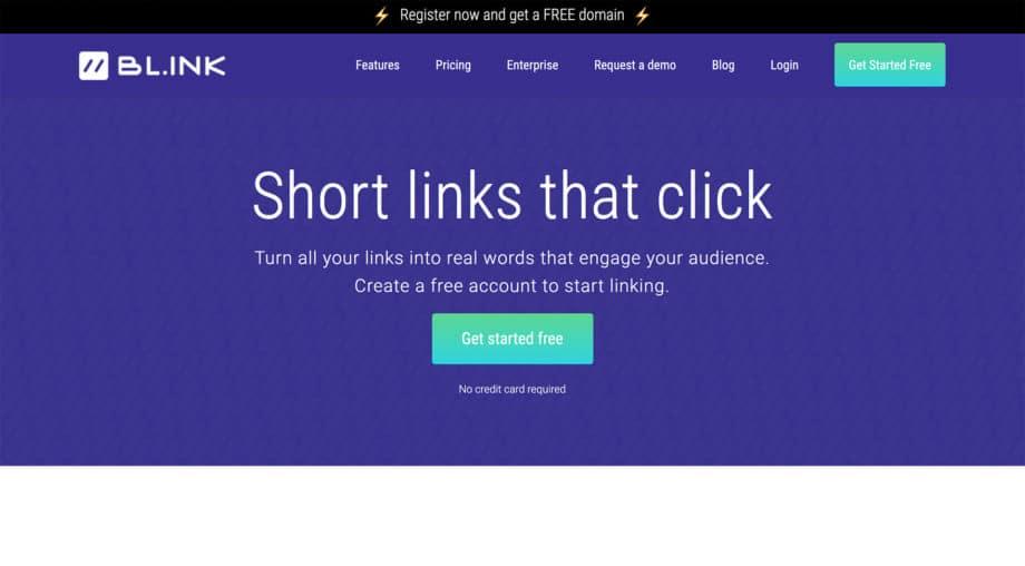 bl.ink homepage