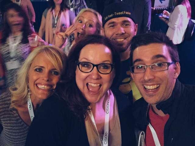 rebekah radice, peg fitzpatrick, brian fanzo at social media marketing world
