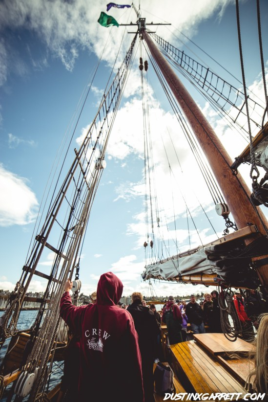 Tall ships being tall