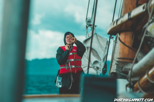 I have no idea what's happening here, but she was communicating with the Captain.