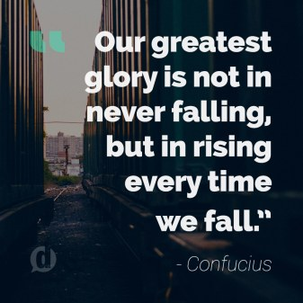 confucius glory quote