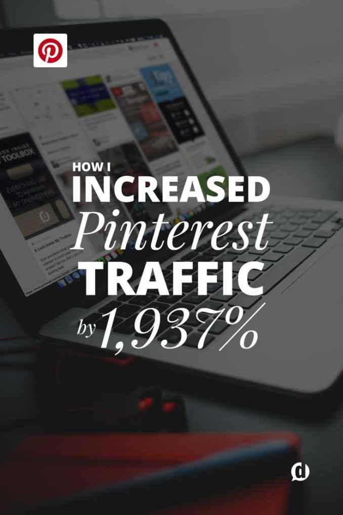 Could you use an extra 1,937% increase in traffic from Pinterest? Yea, you read that right. Almost two-thousand percent increase in Pinterest traffic. I give you my full journey from Pinterest being barely a blip on my analytics radar to know being responsible for over half of social media traffic on my blog.