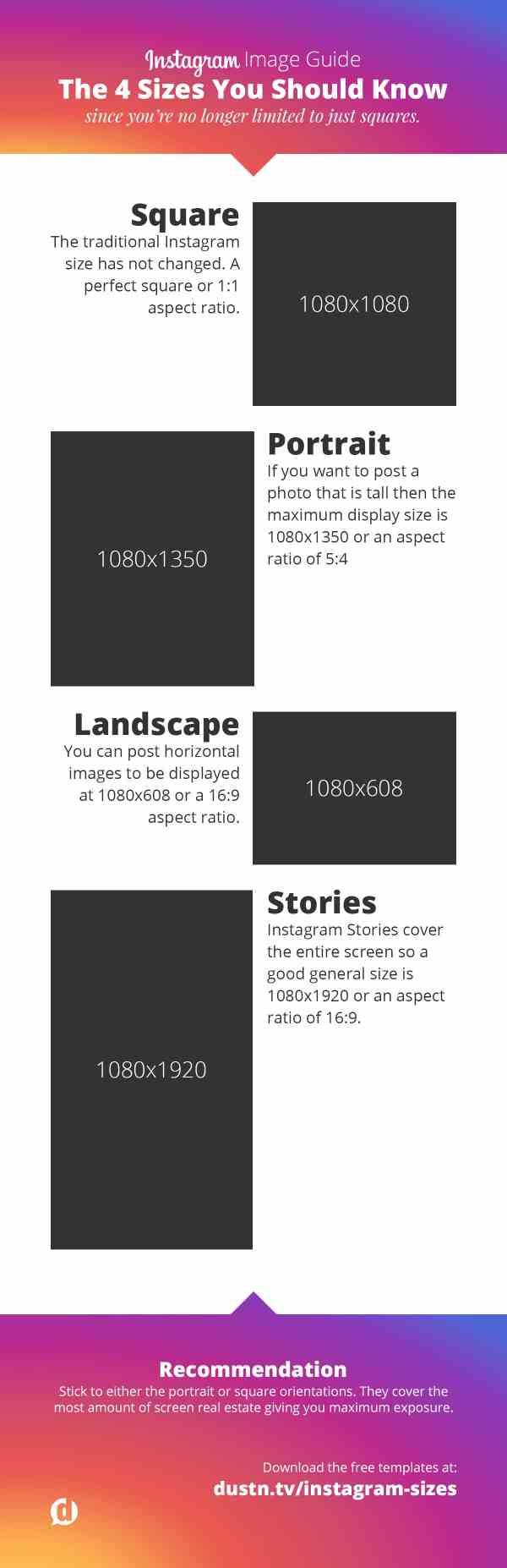 Instagram Images Sizes