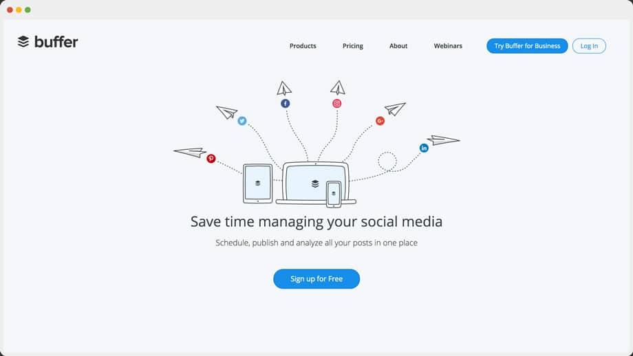 Buffer home page