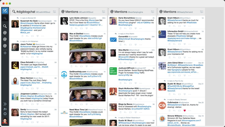 TweetDeck dashboard view