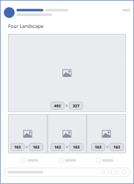 facebook four landscape upload mockup