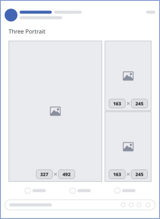 facebook three portrait upload mockup