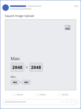 facebook single square upload mockup