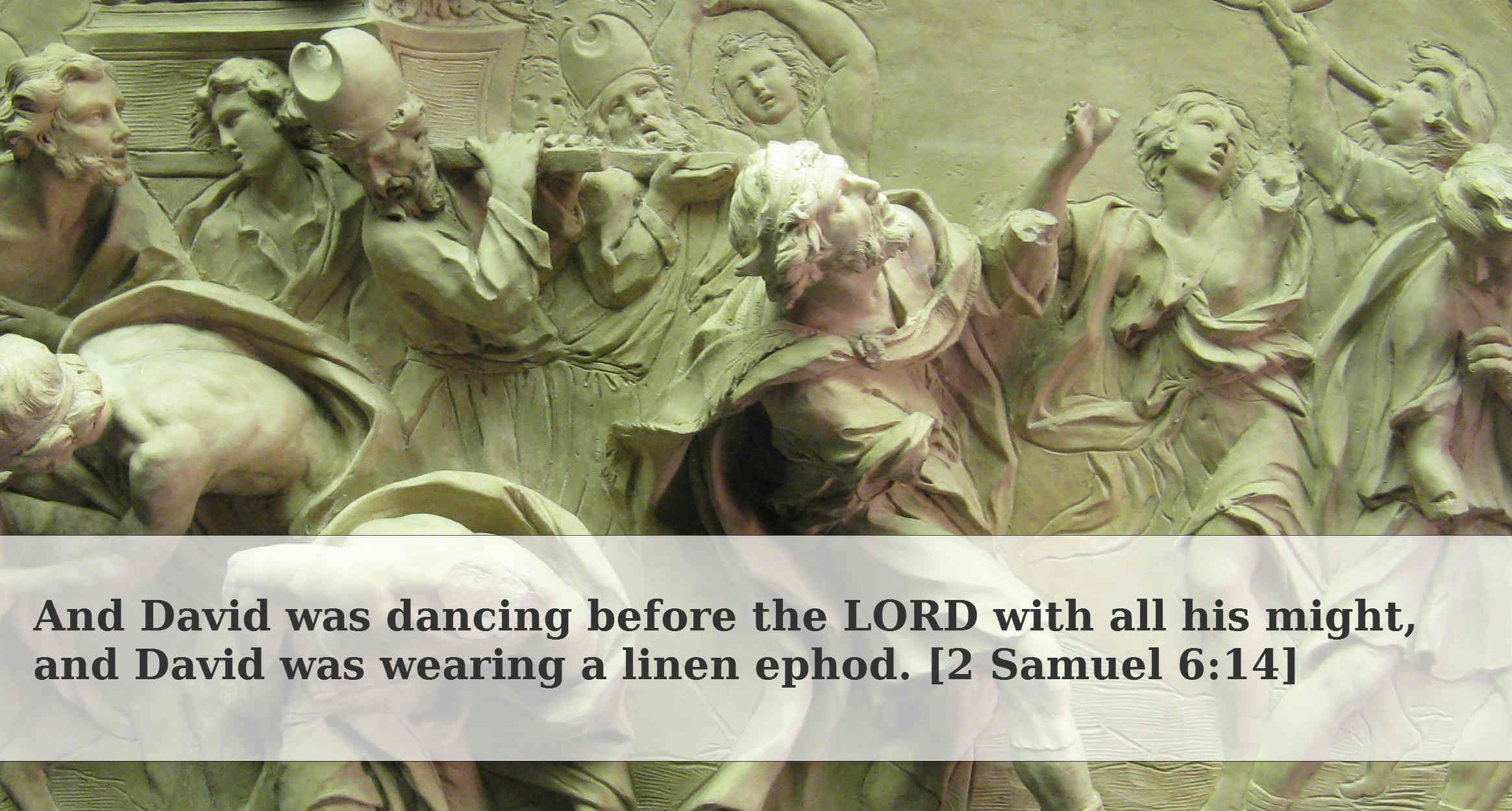 Image result for david wearing ephod dancing