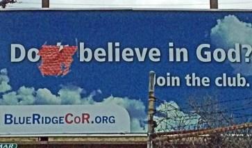 Believe in God vandalism