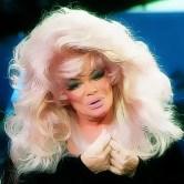 Jan Crouch Blonde Pink Hair