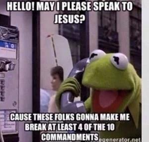 Hello, I need to speak to Jesus