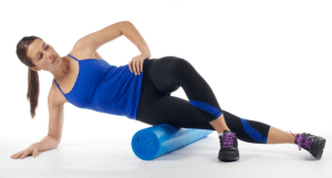 The dreaded IT Band release move on the foam roller!