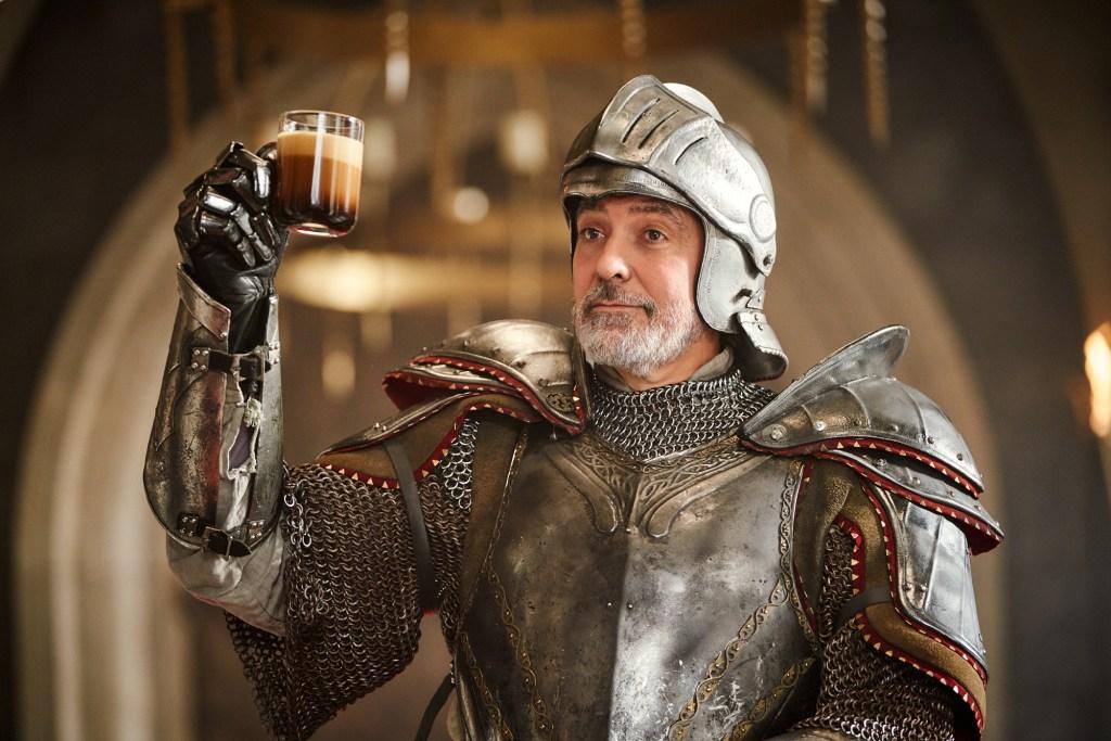 George Clooney Nespresso coffee knight